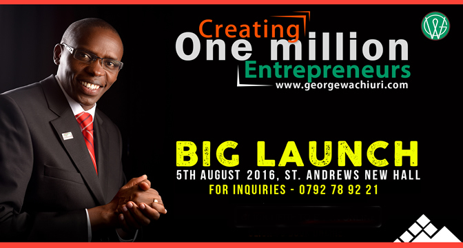 1 Million Entrepreneurs Arise - Creating over 1 million Entrepreneurs by 2035